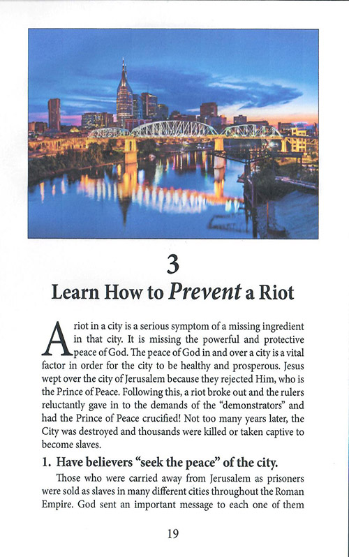 How Cities of Light Can Stop All Riots inside 2