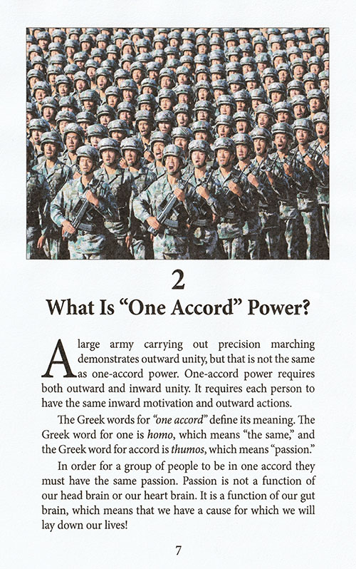 How to Achieve One Accord Power inside 1