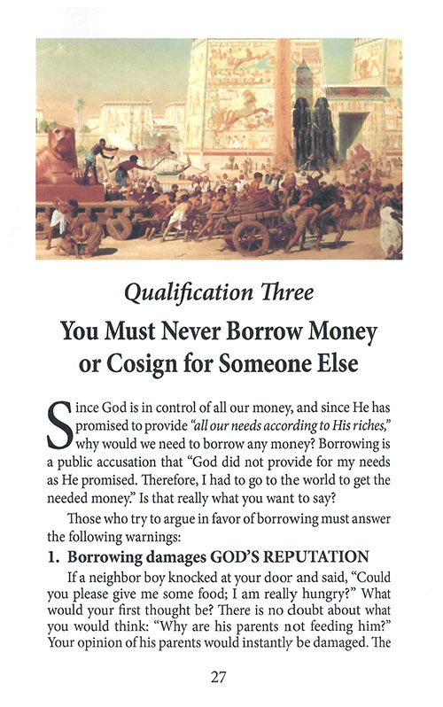 Do You Qualify to Get Money From God inside 1